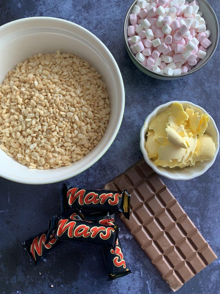 Delicious Mars Bar rice crispy cakes