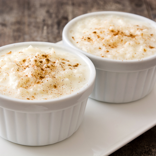 Yummy slow cooker rice pudding